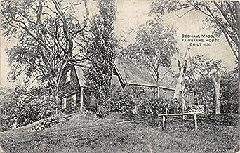 Fairbanks House Built 1636 Dedham Massachusetts Postcard