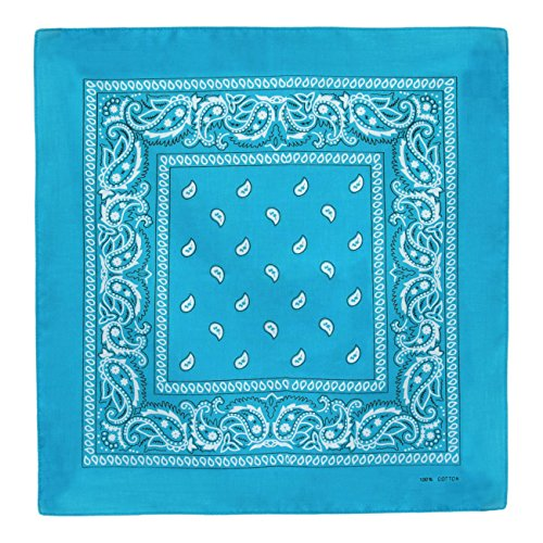 foulard-bandana-coton-bleu-turquoise