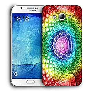 Snoogg Colorful Masks Designer Protective Back Case Cover For SAMSUNG GALAXY A8