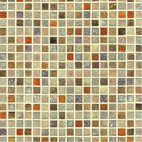 Kitchen Backsplash Contact Paper: Multi Color Tile Mosaic Pattern Contact Paper Self