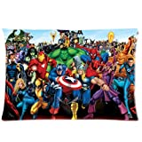 HipsterOne Marvel Superheroes Pillowcase (Standard 20x30 inch)-Custom Zip Pillow Case Cover