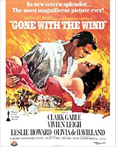Amazon.com: Gone with the Wind One Sheet (Clark Gable ...