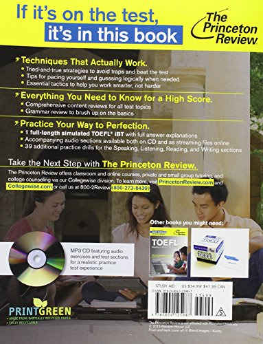 Cracking The TOEFL iBT - 2016 Edition (Audio CD) (Cracking the Toefl Ibt (Princeton Review) (Book & CD))