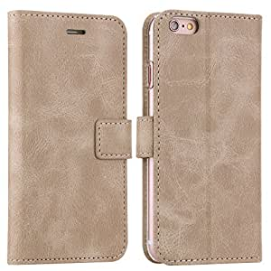 iPhone 6s wallet case, iPhone 6 wallet case, Valkit Top best PU leather protective flip folio stand cases covers for iPhone 6 6s 4.7 inch phone case skin with credit card holder, Rice white
