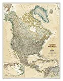 National Geographic Maps North America Executive, tubed Wall Maps Continents (National Geographic Reference Map)