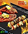 BBQ Grill Mat set of 2 by Grill Whiz. Premium Mats for Outdoor, Charcoal, Gas & Electric Grills. 100% Non Stick. Reusable, Dishwasher Safe. Doubles as Baking Mat. Up to 150% thicker than other mats as seen on TV. See Black Friday special below.