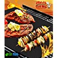 BBQ Grill Mat set of 2 by Grill Whiz. Premium Mats for Outdoor, Charcoal, Gas & Electric Grills. 100% Non Stick. Free Bonus. Perfect for Grilling Steak, Chicken, Burgers, Vegetables, and Seafood. Reusable, Dishwasher Safe. Doubles as Baking Mat. Up to 150% thicker than other mats as seen on TV. Money Back Guarantee!