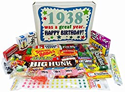 1938 78th Birthday Gift Basket Box Retro Nostalgic Candy