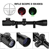 COOLOH Yannuo Trading 3-9 X 40 EG Tactical Riflescope Optic Sniper Deer Rifle Scope Hunting Scopes Airgun Rifle Outdoor Reticle Sight Scope (11mm) (Color: 11mm)