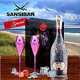 Sansibar Rosé Prosecco Geschenkset inkl 2 rose-eloxierten...