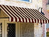 Awntech 4-Feet New Orleans Awning, 44-Inch Height by 24-Inch Diameter, Light Yellow