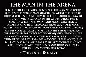 Theodore Roosevelt Man In The Arena Poster Theodore Roosevelt Poster