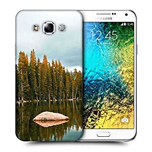 Snoogg Rock In The River Printed Protective Phone Back Case Cover ForSamsung Galaxy E7