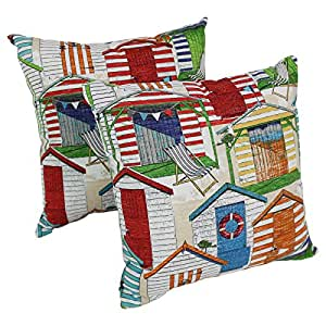 Cabana Beach Hut 17 x 17 Inches Square Outdoor Indoor: Home & Kitchen
