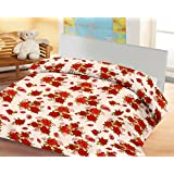 Lali Prints Small Red Rose A.C Blanket Single Bed Size Dohar