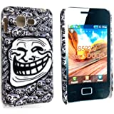 SMILEY FUNNY MASK FACE PRINT HARD BACK PROTECTION CASE COVER FOR SAMSUNG STAR 3 DUOS S5220 S5222
