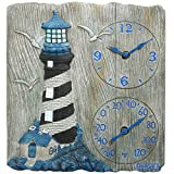 Springfield 92655 Lighthouse Clock with Thermometer