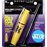 Maybelline The Colossal Volum' Express Washable Mascara Twin Pack, Glam Black 950