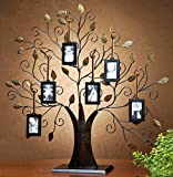 ESK Collection Large Bronze Family Tree Picture Frame with 6 Hanging Photo Frames