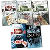 Karin Slaughter Karin Slaughter 5 Books Collection Pack Set RRP: £35.95 (Undone, Broken, Faithless, Indelible, Fractured)