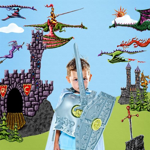 Dragon Wall Stickers for Dragons-Knight-Castle Wall Mural - Easy Peel & Stick Dragon Wall Decals