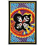Kiss Blacklight Responsive Poster