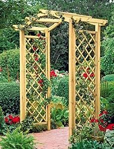Pergola madera sharemedoc Arcos de madera para jardin