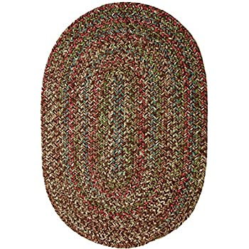 Sonya Indoor/Outdoor Oval Reversible Braided Rug, 5 by 8-Feet, Brown Multicolor