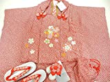 正絹 絞り 被布セット 3歳 高級品 七五三の着物 絞りに刺繍柄 ひった模様
