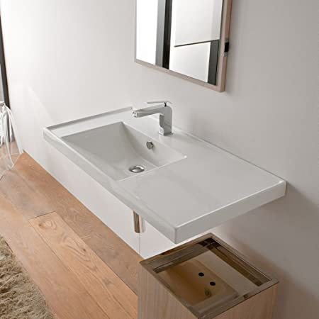 Scarabeo Scarabeo 3008-Three Hole-637509867157 Stylish Self Rimming Ceramic Sink, White