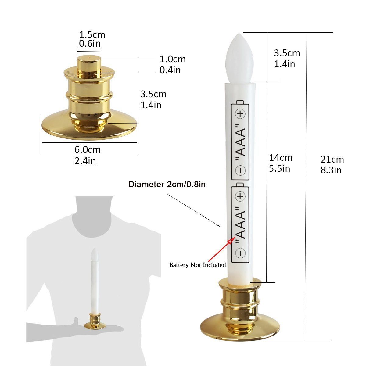 Window Candles With Remote Timers Battery Operated Flickering Flameless Led Electric Candle Lights With Removable Tapers Pillar Candle Holders For Christmas Decorations 6pcs Gold Base