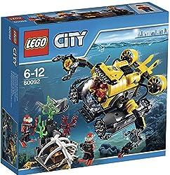 Lego Spielwaren GmbH LEGO® City 60092 Tiefsee-U-Boot Entdecke mit dem Tiefsee-U-Boot die Tiefen des Ozeans! Erforsche mit dem Tiefsee-U-Boot die Geheimnisse des Ozeans! Die LEGO® City Tiefseeforscher haben eine geheimnisvolle Truhe entdeckt, die in e...