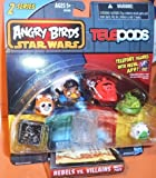 Angry Birds Star Wars Telepods Rebels vs. Villains 6 Pack - Jabba The Hutt, Tusken Raider, Han Solo (In Carbonite), Lando Calrissian, Wicket W. Warrick, Royal Guard by Hasbro