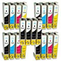 Compatible Epson Stylus SX515W Ink Cartridges 8X Black 4X Cyan 4X Magenta 4X Yellow (20-Pack)