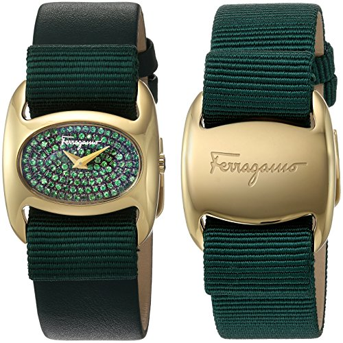 Salvatore-Ferragamo-Womens-FIE090015-Varina-Analog-Display-Quartz-Green-Watch