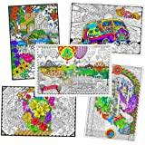 Wall Poster 5 Pack - Giant 22 X 32.5 Inch Line Art Coloring Posters (Classic)