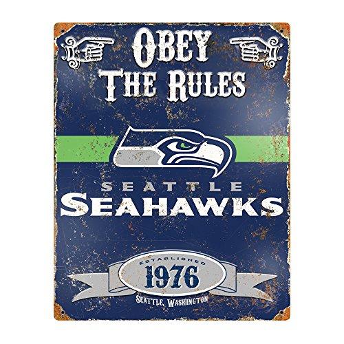 NFL-Seattle-Seahawks-Embossed-Metal-Sign-14-12-x-11-12-Inch