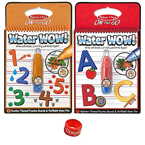 Melissa & Doug Water Wow Activity Book - Alphabet and Numbers with Dimple Ring