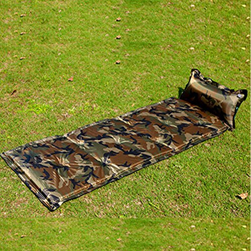 1PC Lightweight Self-Inflating Camp Air Pad with Attached Pillow