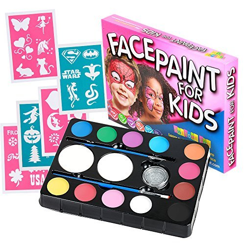 face-paint-kit-for-kids-47-pieces-12-color-palette-30-stencils-2-brushes-2-sponges-1-glitter-best-qu