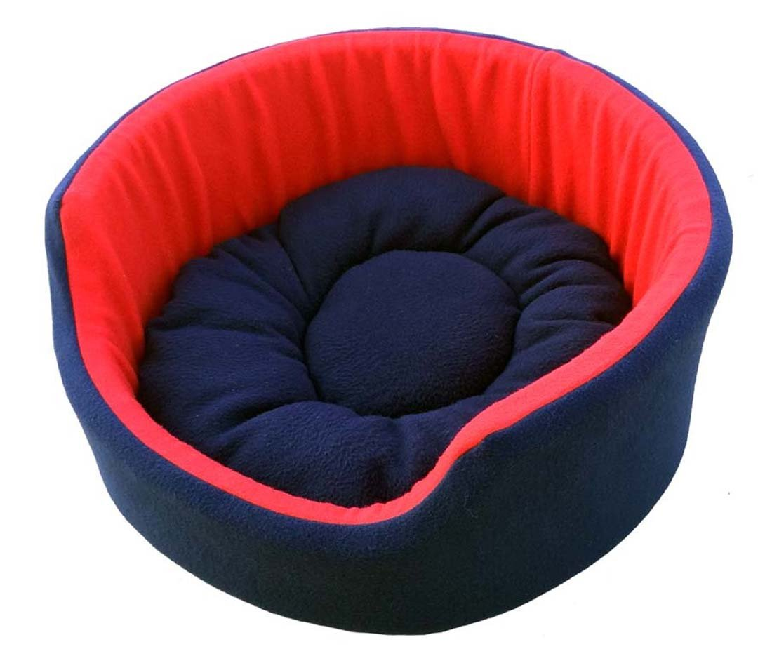 Fluffy's Luxurious Soft Red & Blue Dog/Cat Bed Both Side(Export Quality)- Small By Amazon @ Rs.970