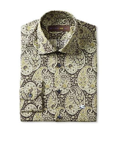 Etro Men's Spread Collar Paisley Long Sleeve Shirt