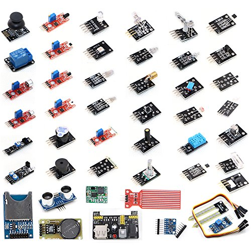 VKmaker T30 High-quality 45 in 1 Sensors Modules Starter Kit for Arduino, better than 37-in-1 sensor kit (Arduino Sensors compare prices)