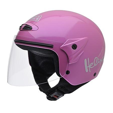 NZI 050215G203 Helix Junior Metallic Pink, Casque de Moto, Taille S Rose