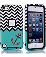 ZAFOORAH® Case Cover fits Apple iPod Touch 6 6th Generation, 5 5th Generation Shock proof Impact Defender +Free Stylus+Screen Protector+Microfiber Cloth