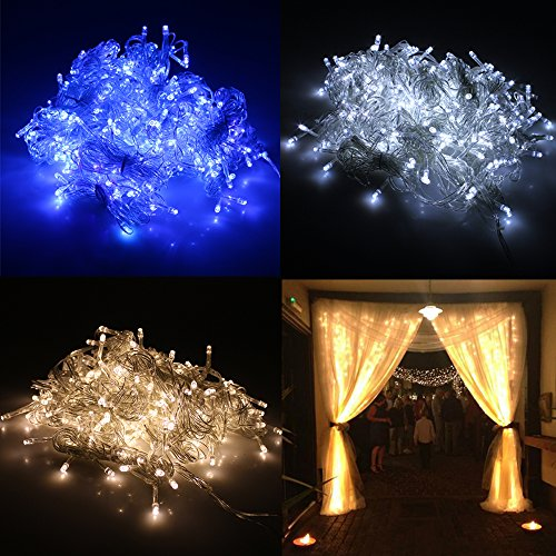 Agptek® 3M X 3M 300 Led Outdoor Party Christmas String Fairy Wedding Curtain Light (8 Modes For Choice - Blue)