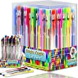Gel Pens - 36 Gel Pen Set - Pack - Bright Knight Quality Gel Ink Pens   Multi Coloured   Fine Ink Ballpoint Pens   Smooth, Anti Skip, Vibrant Color - Neon , Pastel, Metalic, Glitter   A Great Range of Colors in This Gel Pen Set   Manufactured to the Highest Standard and Complete with a Full Product Replacement Guarantee.