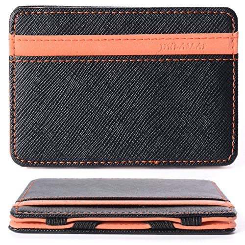 Portafoglio Magico in simili cuoio - magic wallet Credit Card Holder - porta moneta --Arancione