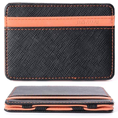 Portafoglio Magico in simili cuoio - magic wallet Credit Card Holder - porta moneta --Arancione