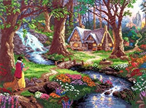 SNOW WHITE DISCOVERS THE COTTAGE counted cross stitch kit KINKADE